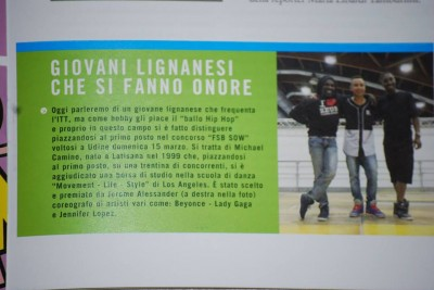 Appearing in an Italian Magazine