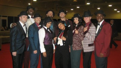 Picture with some of the best tap dancers in the country! I love getting to tap. There's not enough tap jobs.
