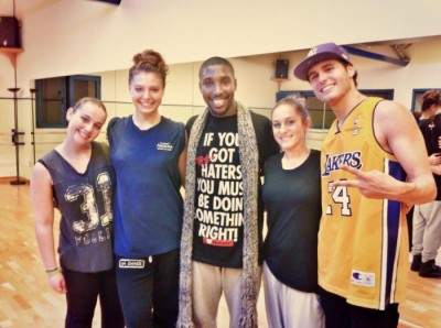 With some of my students after 6 hours of dancing!