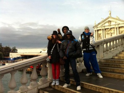 With some of my students (Andrea and Eva) and Fransu on the most famous bridge in Venice!